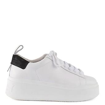 Ash MOON Platform Trainers White Leather & Black Suede