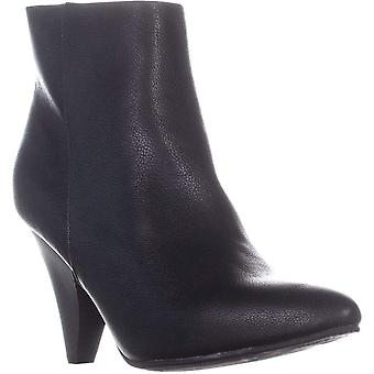 SEVEN DIALS Calzada Pointed Toe High Ankle Boots, Black Smooth, 9 US