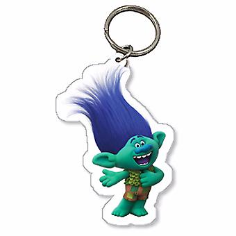 Trolls Childrens/Kids Official Branch Character Keyring