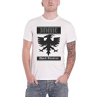 Revenge T Shirt Shock Attrition Band Logo new Official Mens White