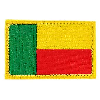 Patch Patch Brode lippu Benin Flag Thermocollant insigne Blason