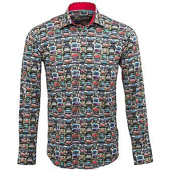 Claudio Lugli Vintage Car Print Mens Shirt