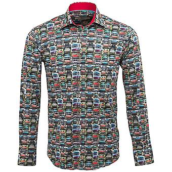 Claudio Lugli Vintage auto afdrukken Mens Shirt