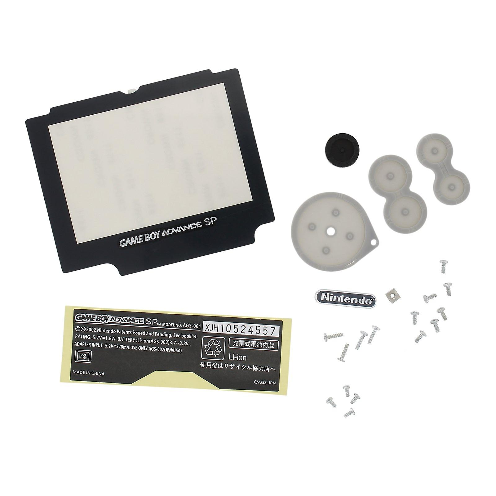 Replacement housing shell kit for nintendo game boy advance sp donkey kong edition - pearl blue