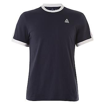Reebok mens Ringer grafische bemanning hals korte mouw lichtgewicht T shirt tee top