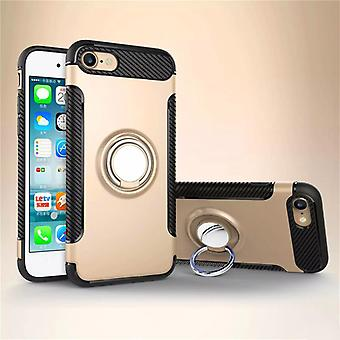 Iphone 7/8 hybrid armor shell magnetic case gold