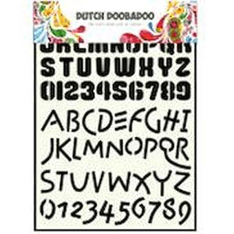 Dutch Doobadoo Stencil - A4 Alphabet 4 #455005