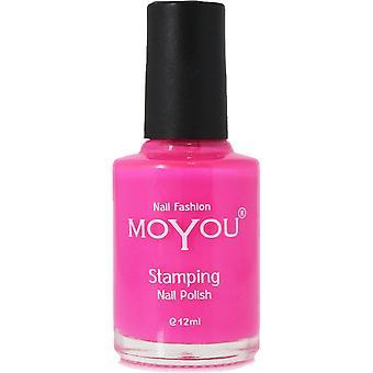 MoYou Stamping Nail Art - Special Nail Polish - Shocking Pink 12ml