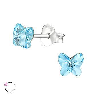 Cristal de papillon de Swarovski® - 925 Sterling Silver Ear Studs - W38399X