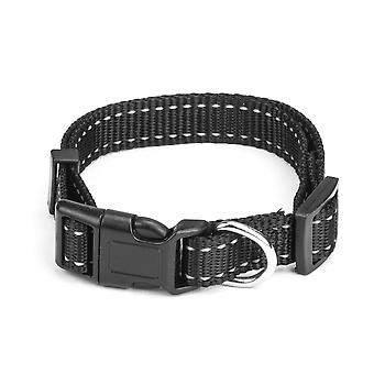 Smal Black Adjustable Reflective Collar