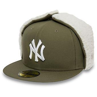 New Era 59Fifty DOG EAR Winter Cap - NY Yankees oliv