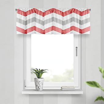Meesoz Valance - Flat Zigzags Red