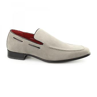 Rossellini Runu Kr2 Mens Faux Suede Loafers Grey