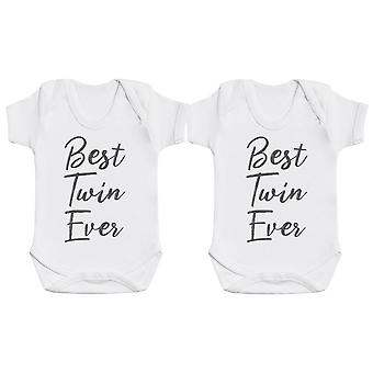 Miglior Twin Ever Baby Body Body Twin Set