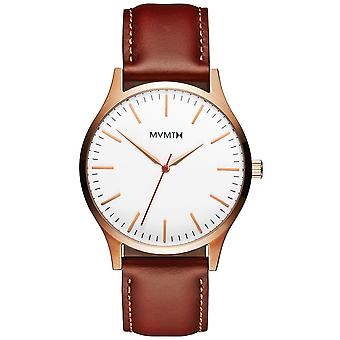 MVMT MT01-WBR 40 series rose gold Natural tan men´s 40mm 3ATM