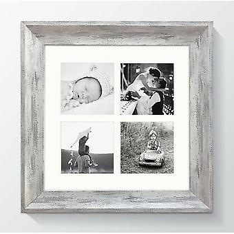 Multi Aperture Photo Frame Square Picture Elissa Shabby Chic 12x12