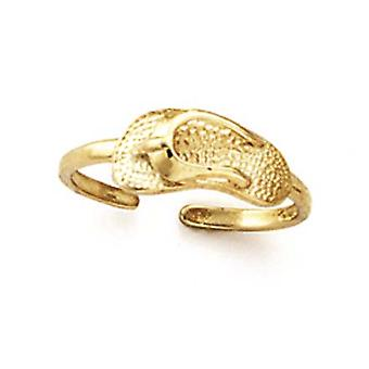 14k Yellow Gold Flip Flop Toe Ring Jewelry Gifts for Women - 1.3 Grams