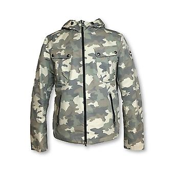 Colmar Ares lightweight jacket in khaki camouflage 3D weave