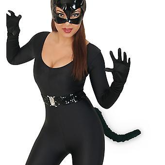 Lisdodde zwarte dieren kostuum accessoires kat