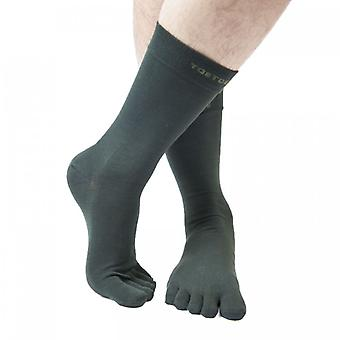 TOETOE Essential Everyday Men Mid-Calf Plain Cotton Toe Socks