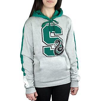 Harry Potter Hogwarts Slytherin S Patch unisex Grey Logo Premium Hoodie/sweater