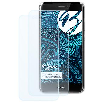 Bruni 2x Screen Protector compatible with Huawei P8 Lite 2017 Protective Film