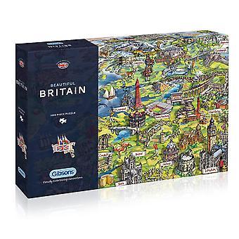 Gibsons vackra Britain pussel, 1000 bit
