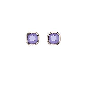 Lilac Gem Square Stud Earrings