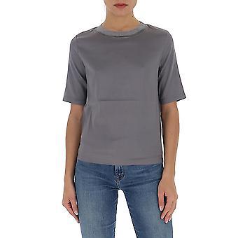 Fabiana Filippi Tpd260w766a5858134 Women's Grey Cotton T-shirt