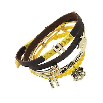 Harry Potter Wristband Hufflepuff House Crest Logo Arm Party Charm new Official
