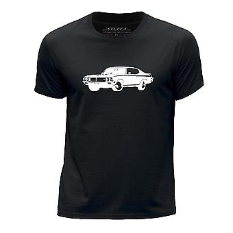 STUFF4 Boy's Round Neck T-Shirt/Stencil Car Art / 1970 GSX/Black
