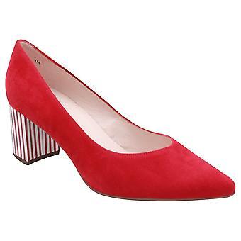 Peter Kaiser Naja Red Suede Fancy Heel Court Shoe