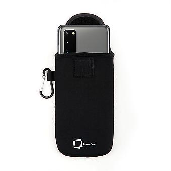 InventCase Neoprene Protective Pouch Case for Samsung Galaxy S20/S20+ 2020 - Black