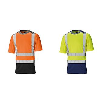 Dickies Mens Short Sleeve Two Tone Hi Visibility T-Shirt