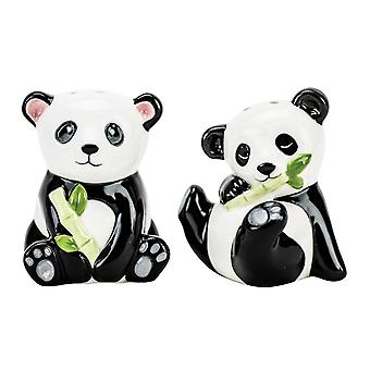 Boston Warehouse bebê ursos Panda sal e pimenta Shakers