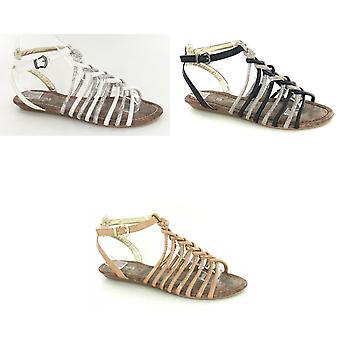 Savannah Womens/femmes entrelacées sandales gladiateur