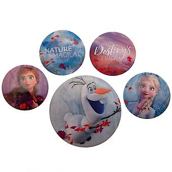 Frozen 2 Button Badge Set (5 kpl pakkaus)