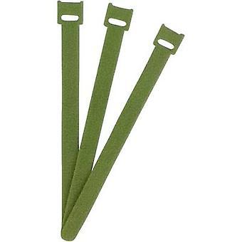 FASTECH® ETK-3-200-0332 Koukku- ja silmukkakaapelisolmio koukku- ja silmukkatyyny (L x W) 200 mm x 13 mm Vihreä 1 kpl