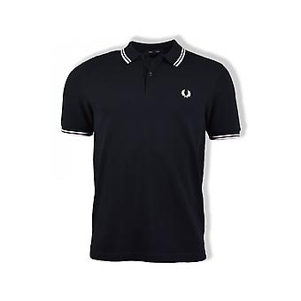 Fred Perry Twin Tipped Polo Shirt (Dark Navy/Pink)