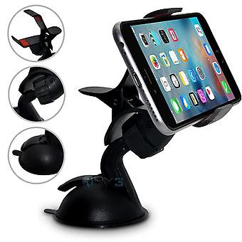 (SuperClaw schwarz) HTC Desire 728 dual-SIM-Windscreen Mobile Phone Smart Car Dashboard Mount Holder Cradle ONX3®