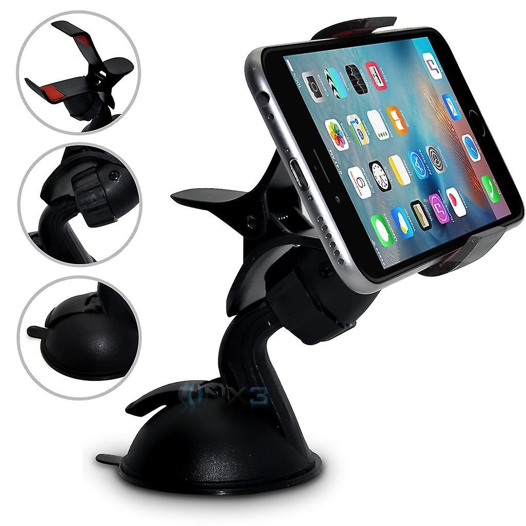 (سوبيركلاو الأسود) بلو ستوديو واحد الزجاج الأمامي للسيارة الهاتف المحمول الذكية ONX3® مهد جبل حامل لوحة السيارة