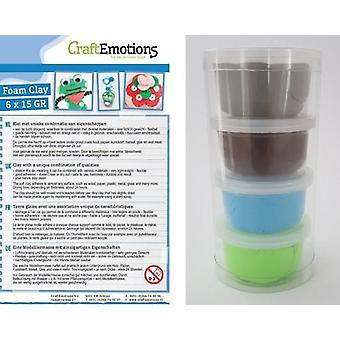 CraftEmotions Silk foam clay - Natural set 4 x 28gr Air dry