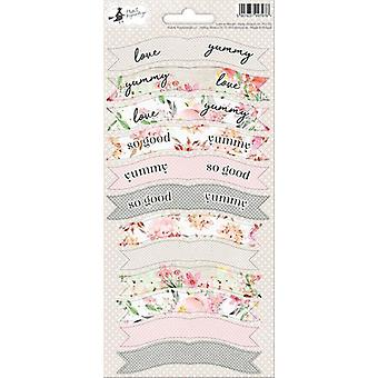 Piatek13 - Folha de adesivoS Party Love in Bloom 01 P13-311 10.5x23 cm