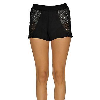 F.k. Projeto Ezgl358003 Women's Black Polyester Shorts
