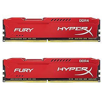 HyperX FURY HX424C15FR2K2/16 DDR4 16 GB (Kit 2 x 8 GB), 2400 MHz CL15 DIMM XMP, Red