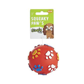 Sharples Squeaky Dog Toy Paw Ball