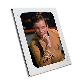 William Shatner Signed Star Trek Photo: The Captain In Gift Box