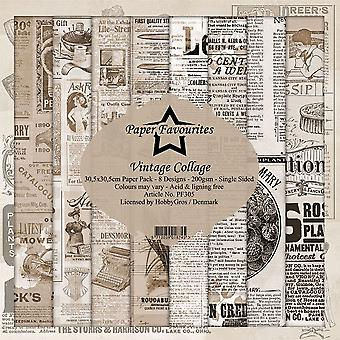 Paper Favourites Vintage Collage 12x12 Inch Paper Pack
