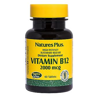 Nature's Plus Vitamin B12 2000ug Sustained Release Tabs 60 (1730)