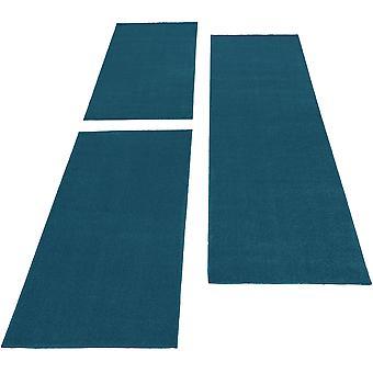Bed border Rug Monochrome Short Flower Cheap Sleeping Cinnamon. Runner Set Blue